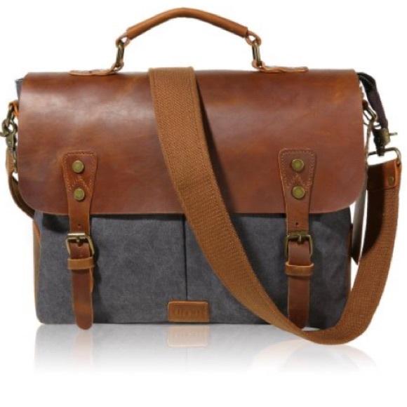 166d6d0db65c lifewit Handbags - Vintage Leather Messenger Bag Laptop Briefcase
